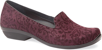 Claret Floral Leather