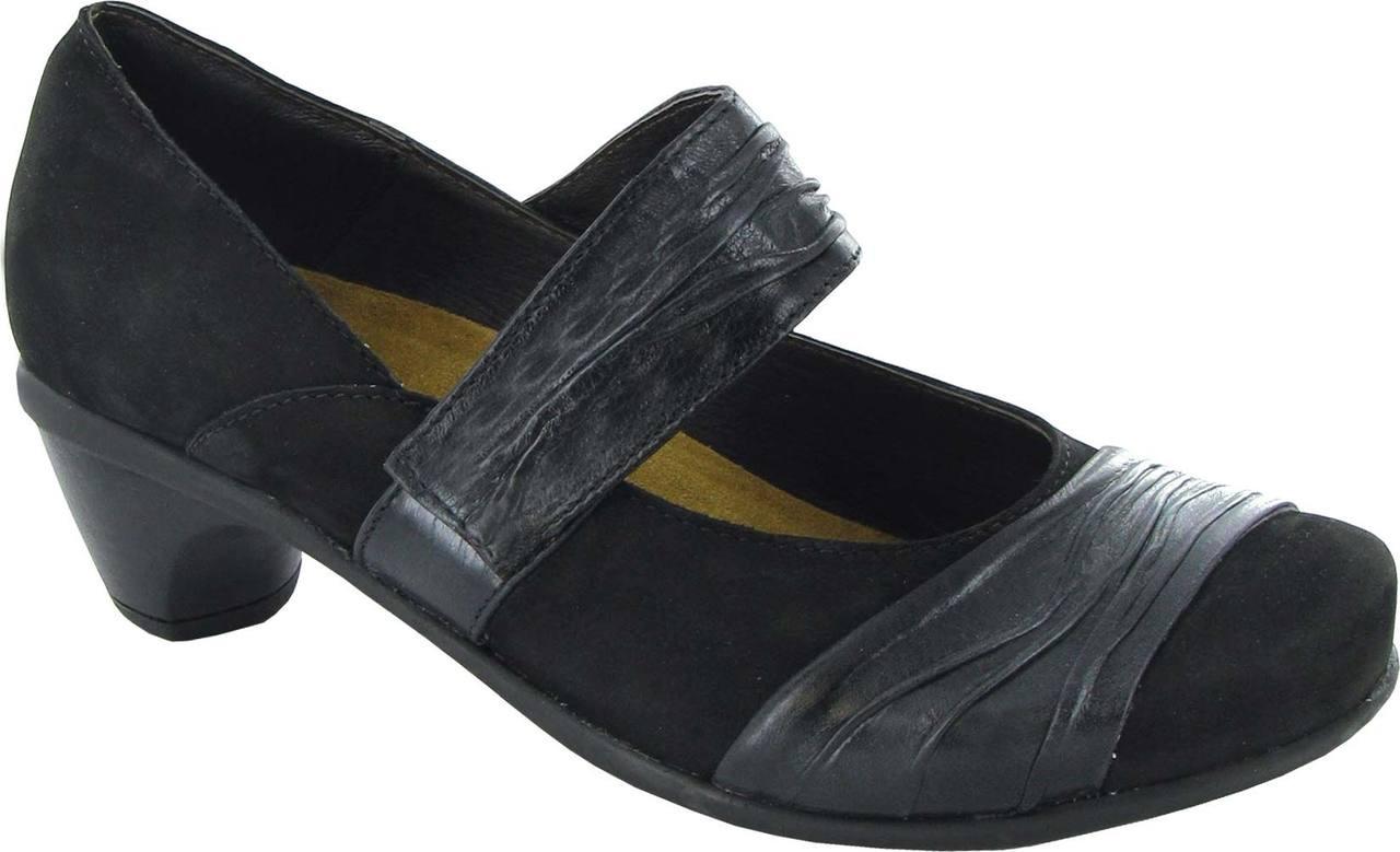 Black Velvet Nubuck/Black Gloss Leather