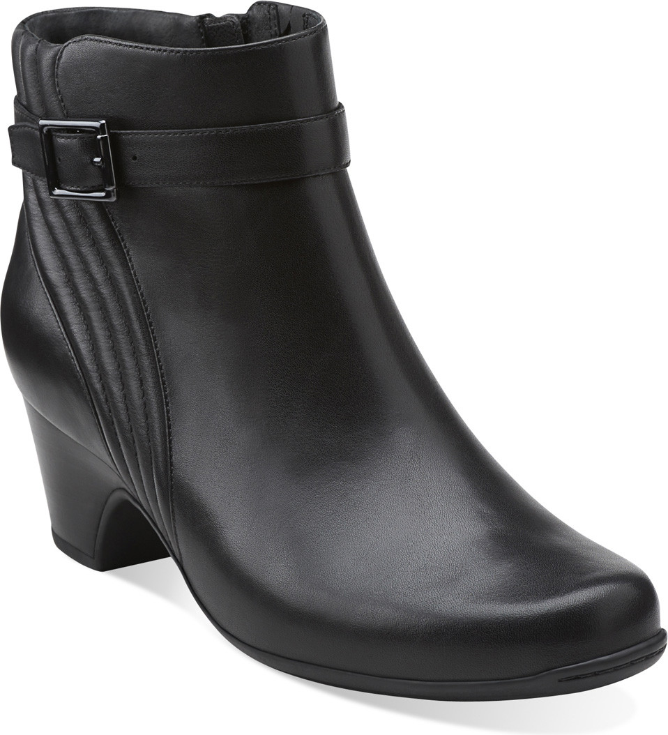... Ankle Boots; Clarks Women's Leyden Scale (Available in Multiple  Colors). Black. Black; Brown Leather