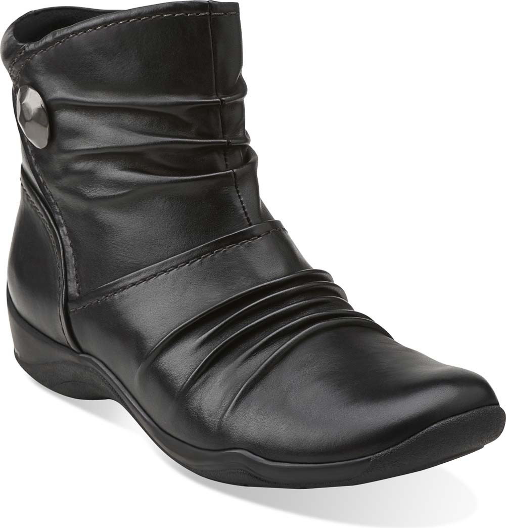 clarks womens black ankle boots