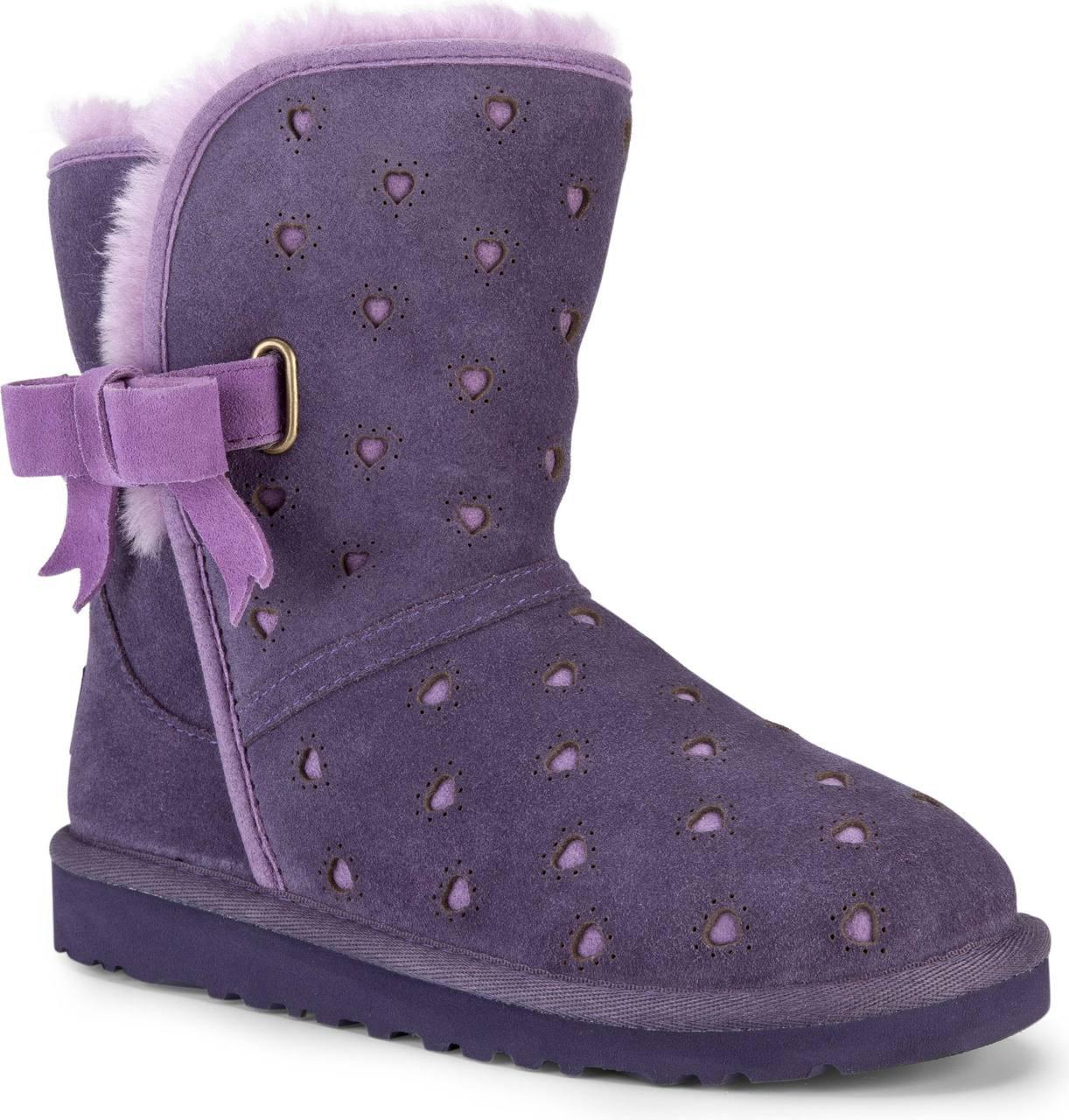 ... Girl's Shoes; UGG Australia Little Kids Joleigh, Purple Velvet. Purple  Velvet