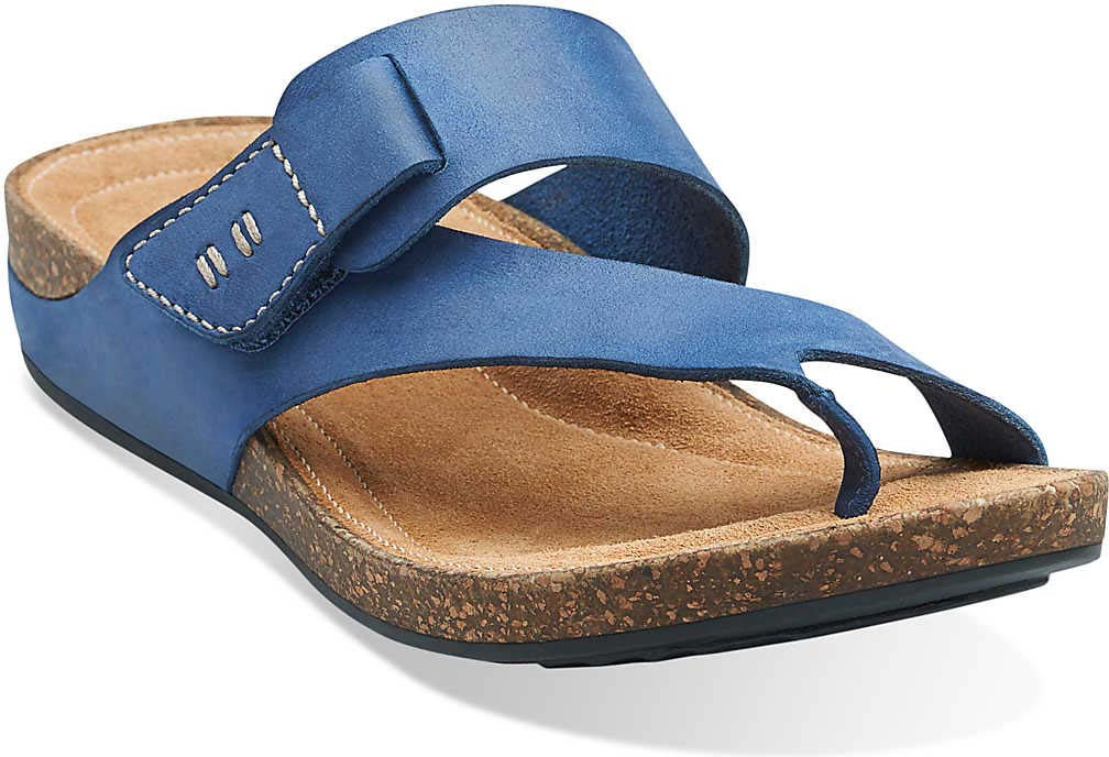 Quality and Quantity Assured Merrell Around Town Thong Sandals Blue FTR3125tdk33H