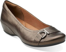 Brown Metallic Leather
