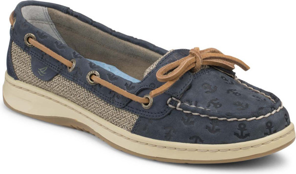 Navy Anchor Leather
