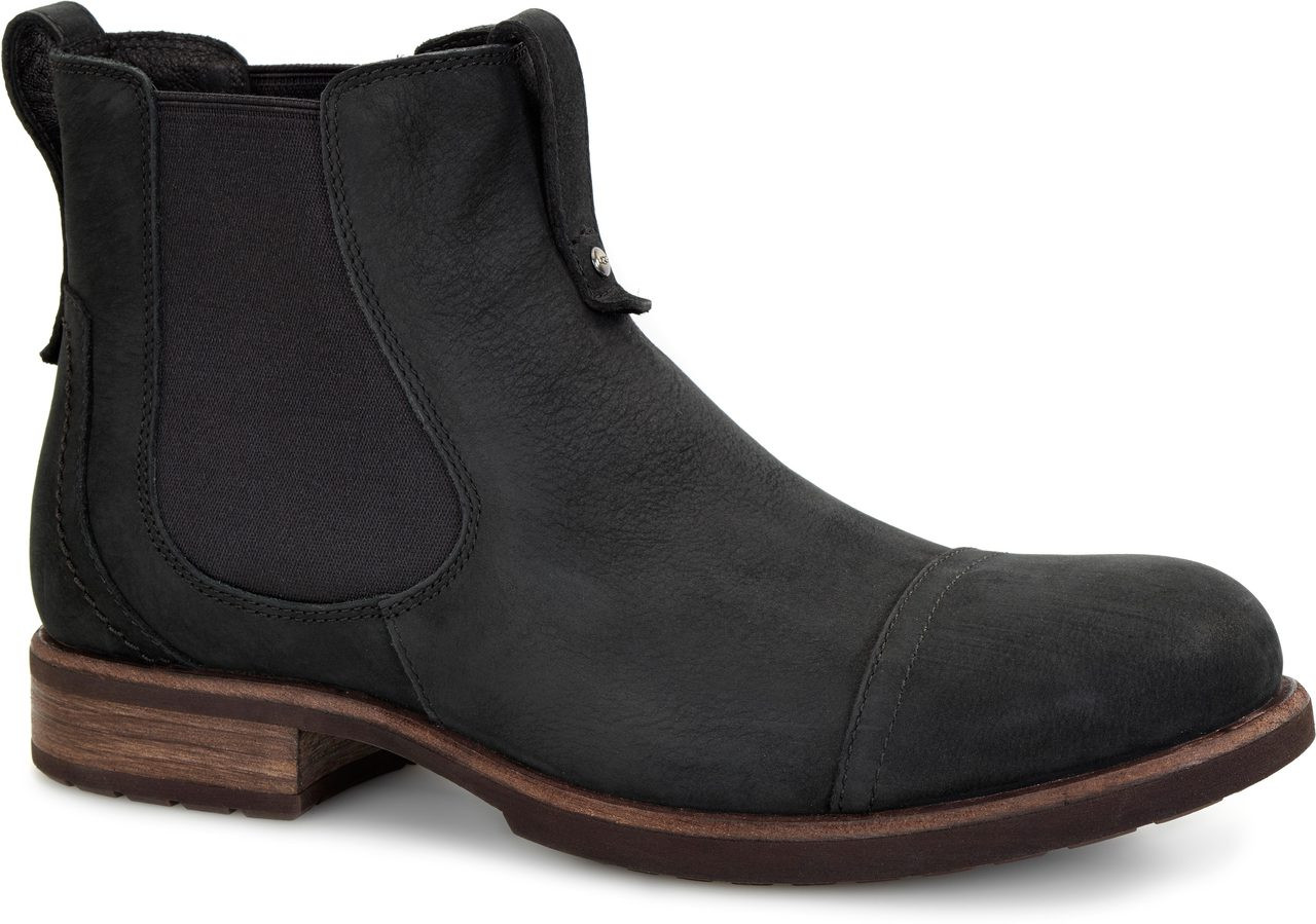 UGG Gallion Leather Mens Black Boots