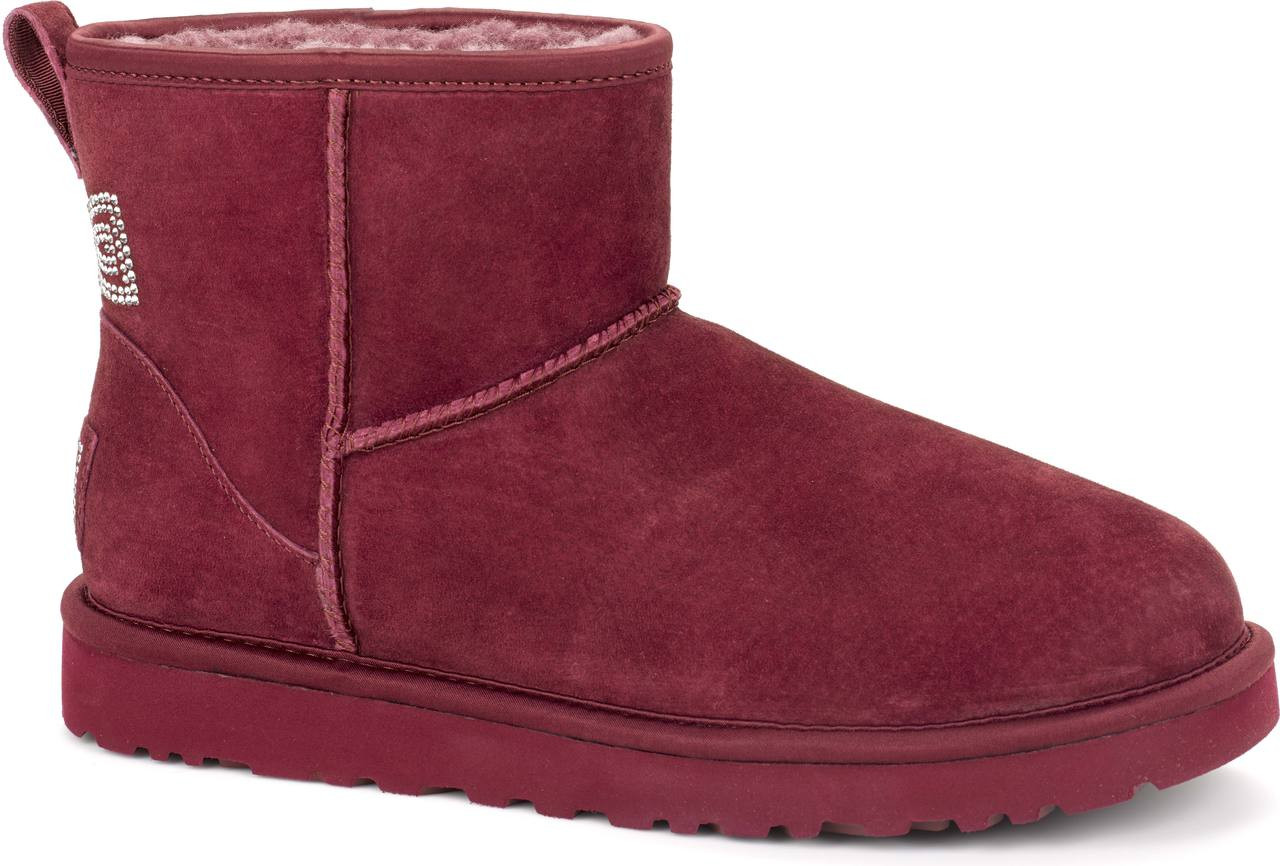ugg classic mini crystal bow