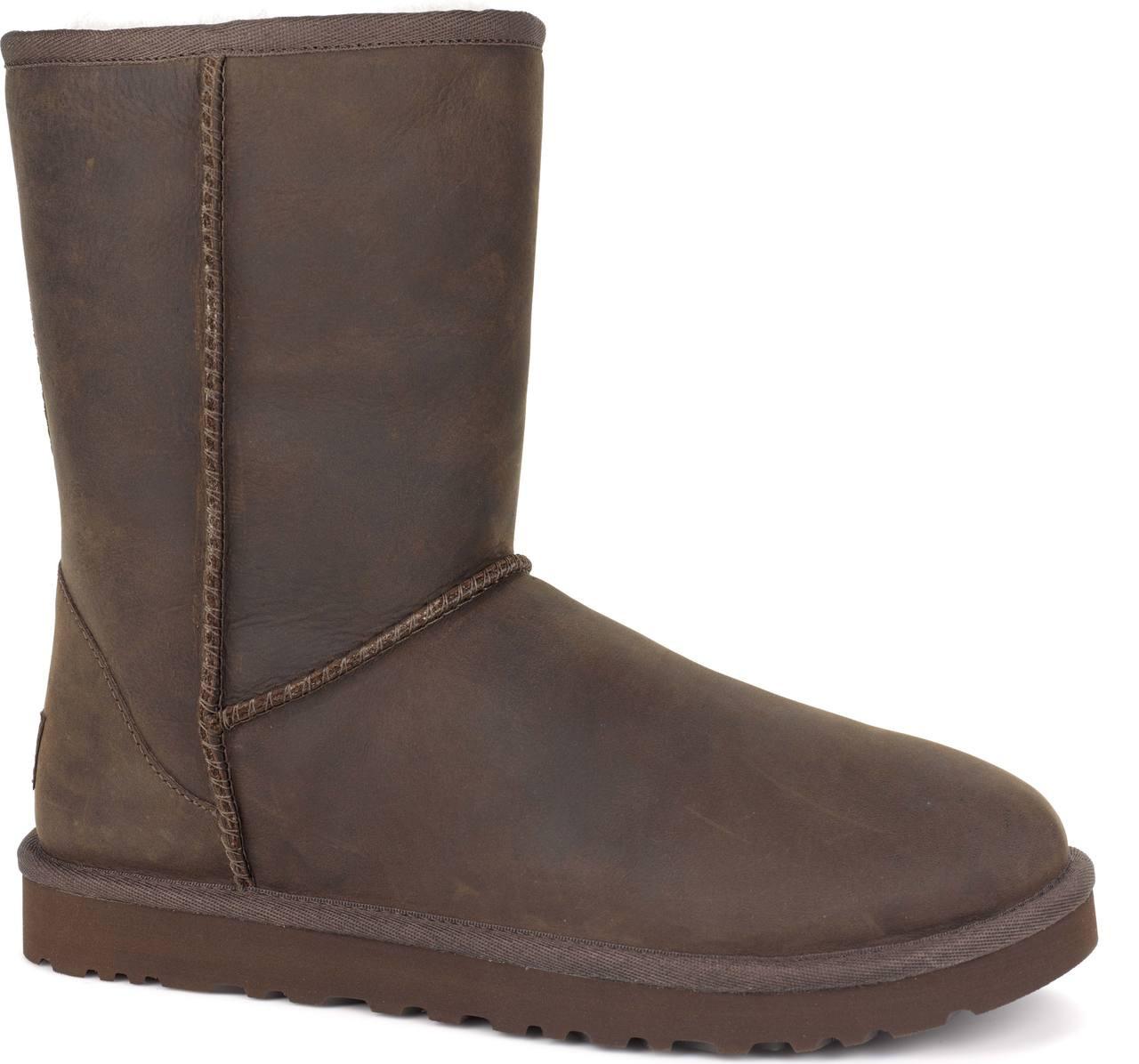 ... Boots; UGG Women's Classic Short Leather. Black. Black; Black TL;  Brownstone ...