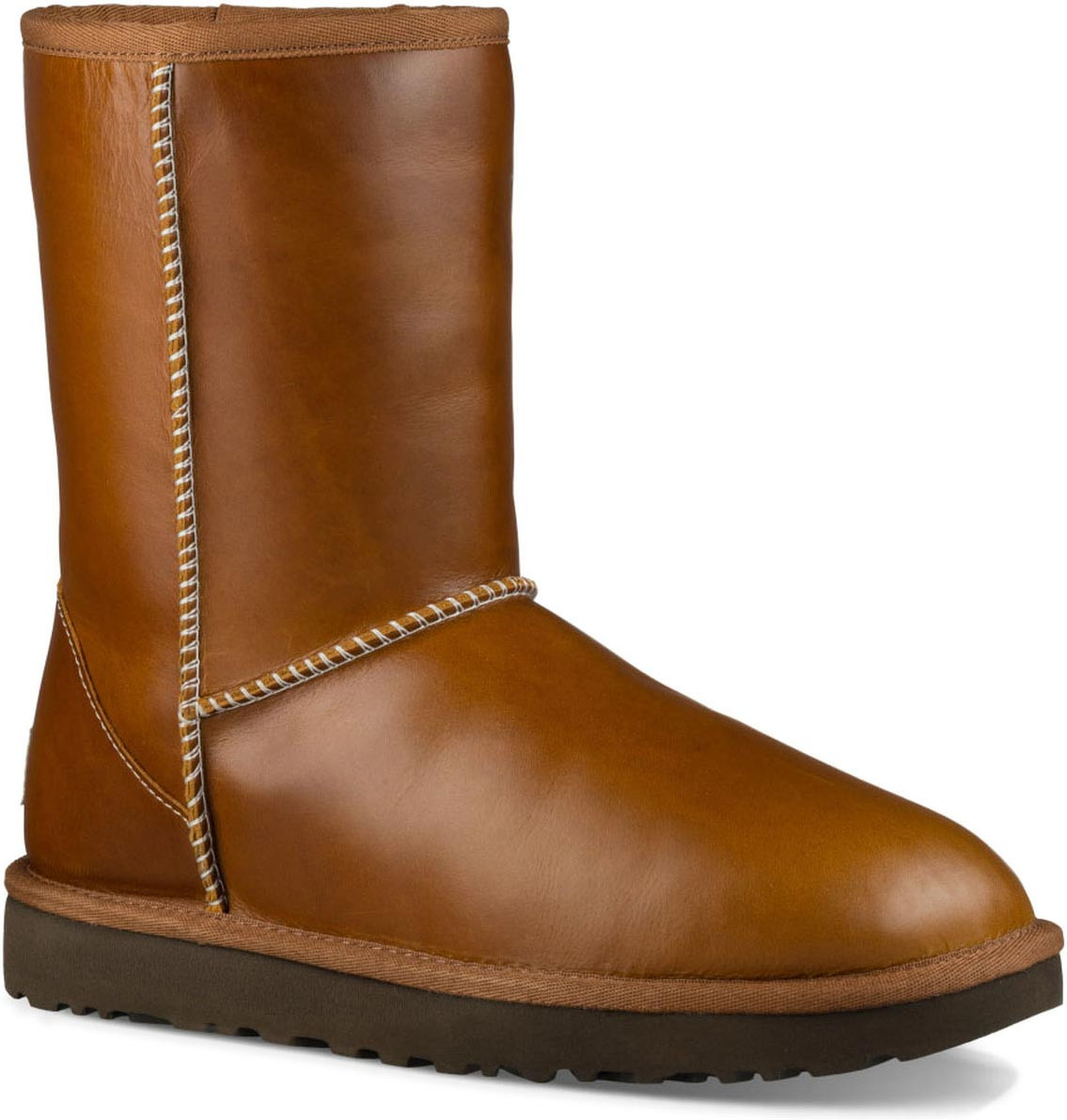 Womens Boots UGG Classic Short Leather Chestnut