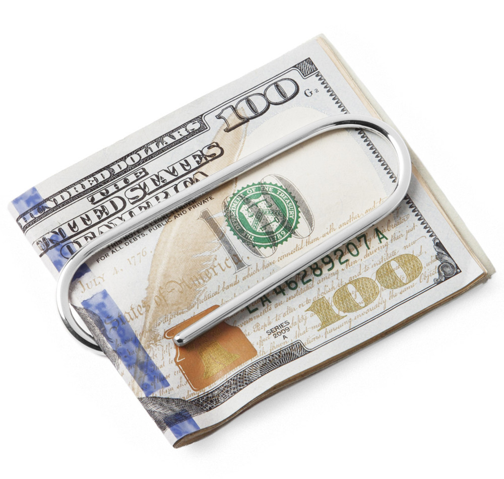 Sterling Silver Paperclip Money Clip