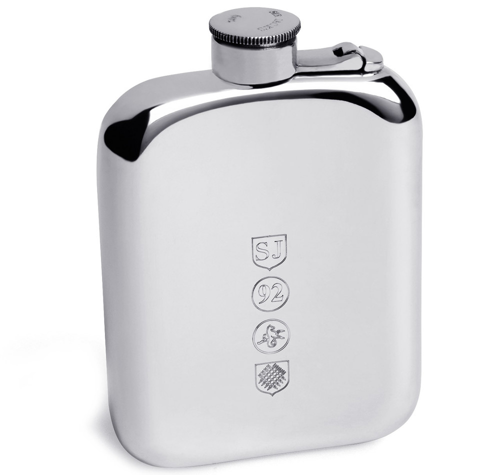 6oz Pewter Captive Top Flask