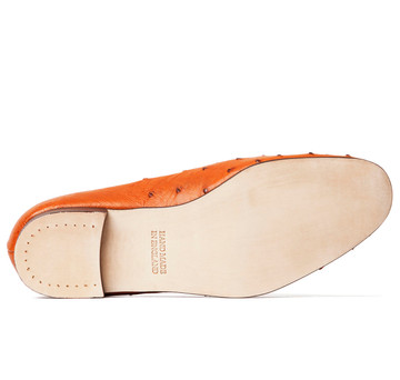 Tan Ostrich Albert House Shoes