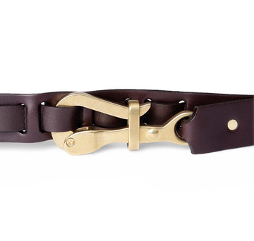 Pelican Hook Belt in Brown Leather