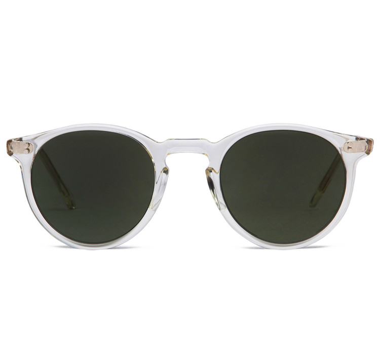 Oliver Peoples O'Malley Sun Beige Crystal With Grey Smoke