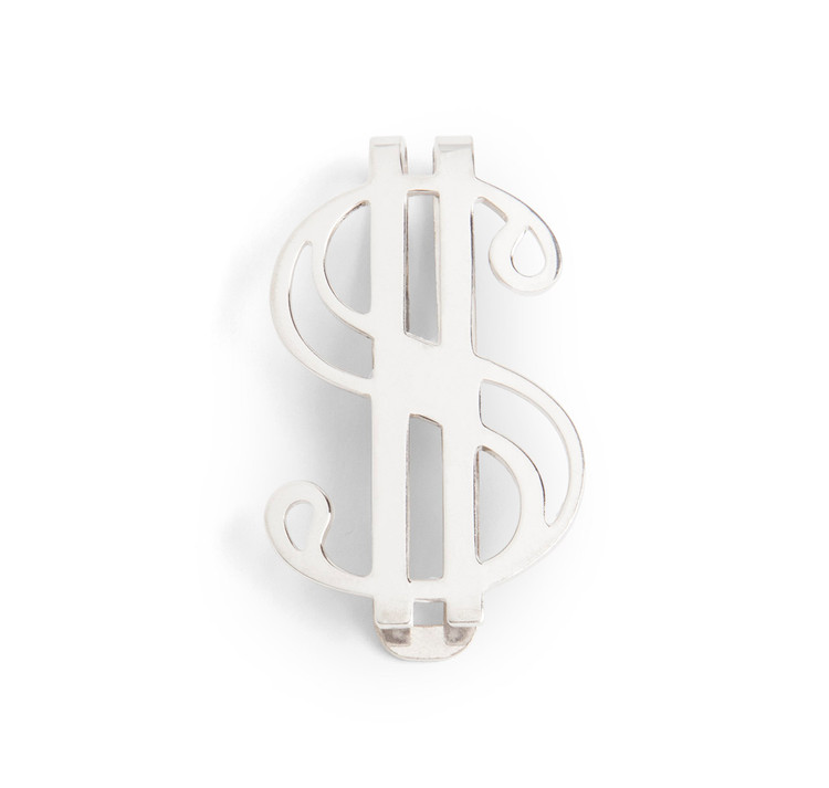 Sterling Silver Dollar Sign Money Clip