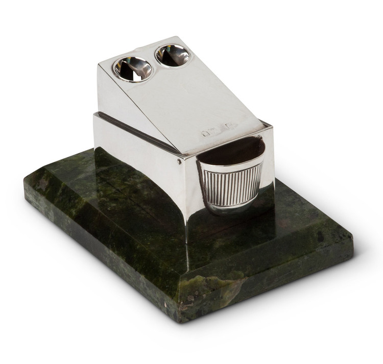 Marble & Sterling Silver Tabletop Cigar Cutter