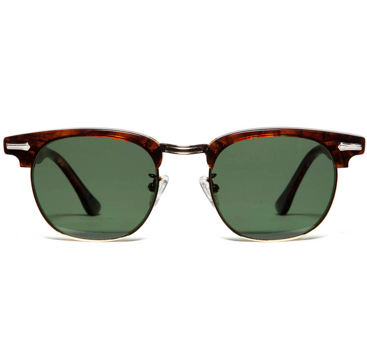 Shuron Escapades Gold Rim Green Lens Sunglasses