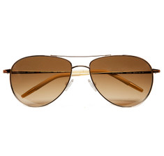 Oliver Peoples Benedict 59 Gold with Amber Chrome Photochromic Glass