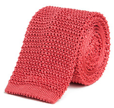 Classic Knit Silk Tie in Rosé