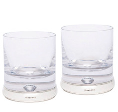 Sterling Silver & Crystal Whiskey Tumbler Set