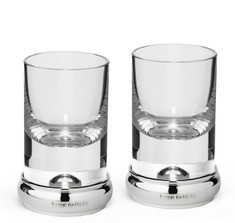 Sterling Silver & Crystal Shot Glass Set
