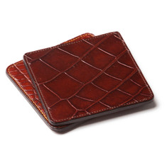 Alligator Coasters in Brown