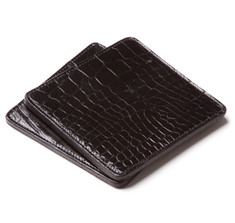 Alligator Coasters in Black
