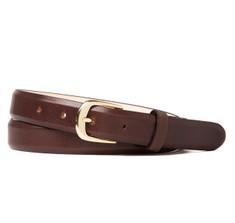 Buffalo Leather Belt in Brown
