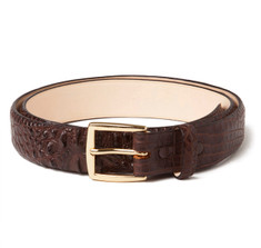 Hornback Alligator Belt in Brown