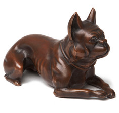 Jenning Brothers French Bulldog Bronze Paperweight
