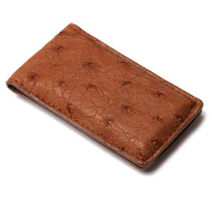 Tan Ostrich Money Clip