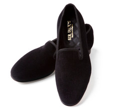 Black Velvet Albert Slipper