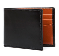 Black & Tan Calf Bifold Wallet
