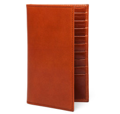Cognac Leather Travel Wallet