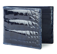 Navy Alligator Bifold Wallet