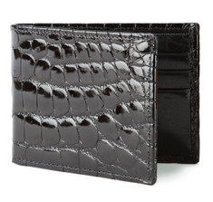 Black Alligator Bifold Wallet