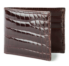 Chocolate Brown Alligator Bifold Wallet