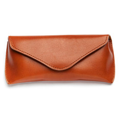 Cognac Leather Aviator Eyeglass Case
