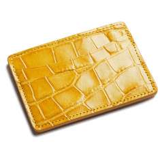 Glazed Yellow Alligator Card Holder