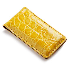 Glazed Yellow Alligator Money Clip