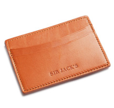 Tan English Bridle Card Holder