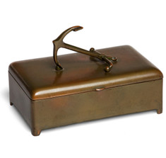 Jenning Brothers Brass Anchor Cigar / Cigarette Box