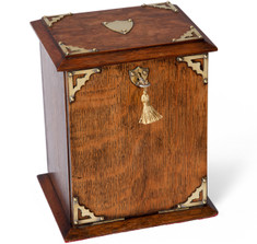 Edwardian Oak Stationery Cabinet & Writing Box