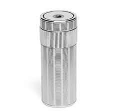 S.T. Dupont Silver-Plated Cylinder Table Lighter