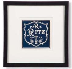 Ritz Hotel Paris Luggage Label
