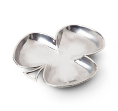 Antique Sterling Silver Clover Ashtray