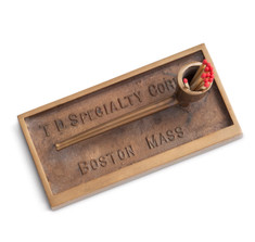 Bronze Cigar Ashtray & Match Holder
