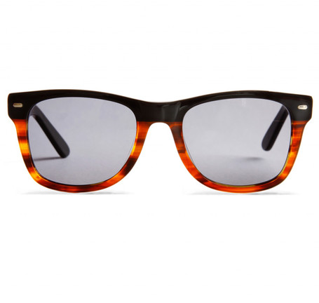 Anglo American Optical Cruise Black Fade to Tortoise Sunglasses