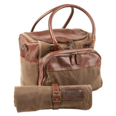 Moore &amp; Giles Meehan Utility Bag &amp; Bar Rollup Waxwear Rangertan