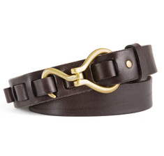 Hoof Pick Belt in Brown Bull Leather