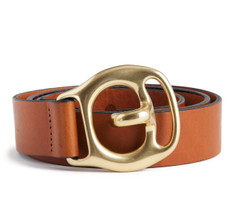 Trace Carrier Belt in Tan Leather